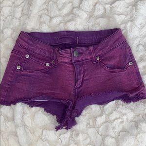 Purple booty shorts